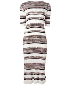 Joseph | Striped Midi Dress Medium Cotton/Viscose