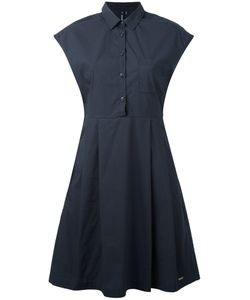 Woolrich | Fitted Pleat Dress Small Cotton