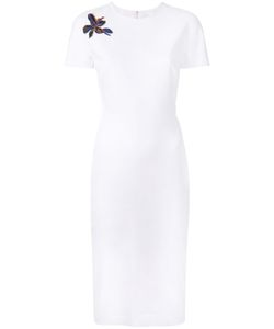 Victoria Beckham | Short Sleeved Fitted Dress 8 Cotton/Polyester/Spandex/Elastane