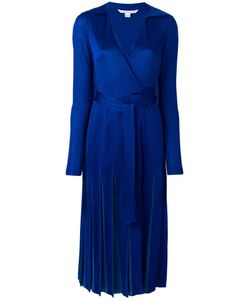 Diane Von Furstenberg | Pleated Wrap Dress 8 Viscose/Silk/Rayon