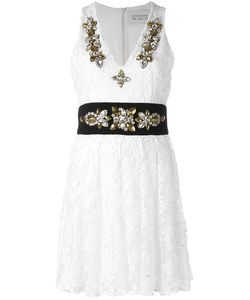 STEFANO DE LELLIS | Embellished V-Neck Lace Dress