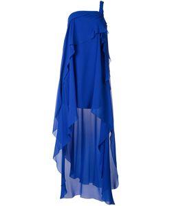 Alberta Ferretti | Asymmetric Layer Dress 40 Silk/Acetate/Other Fibers