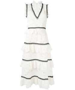 SELF-PORTRAIT | Кружевное Платье С Оборками