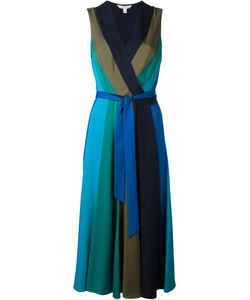 Diane Von Furstenberg | Pleated Wrap Dress 6 Silk/Spandex/Elastane