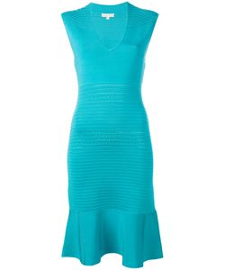 Michael Michael Kors | Ribbed Trim Fitted Dress Size Medium