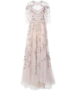 Marchesa | Bead Embroidery Voile Gown Women