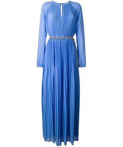 Michael Michael Kors | Long Pleated Dress Large Polyester