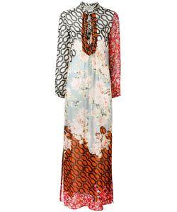 Amen   Multi-Print Shift Maxi Dress Silk Glass