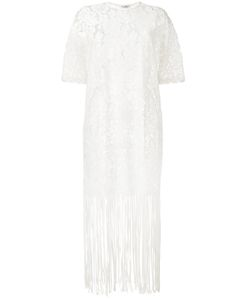 Roseanna | Lace Fringe Trim Dress 36 Cotton/Nylon