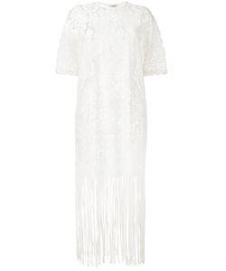Roseanna | Lace Fringe Trim Dress 36 Cotton/Nylon