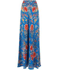 Roberto Cavalli | Embroide Maxi Skirt 42 Silk