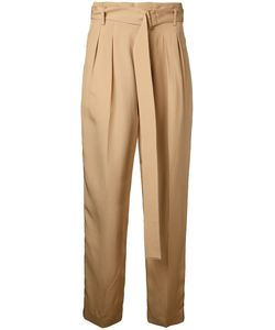 Cityshop | High-Waisted Cropped Trousers 36 Cupro/Acetate