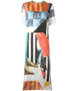 Joseph | Geometric Print Midi Dress 42 Silk