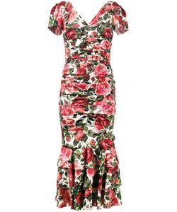 Dolce & Gabbana | Print Ruched Midi Dress