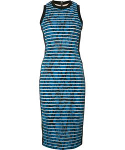 Nicole Miller | Striped Fitted Dress 6 Nylon/Polyester/Spandex/Elastane/Spandex/Elastane