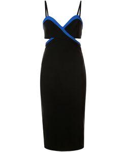 Mugler | Платье На Бретельках С Контрастной Окантовкой