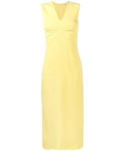 Emilia Wickstead | V-Neck Midi Dress 12 Viscose/Silk