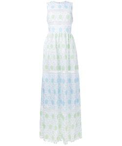 Huishan Zhang | Sleeveless Lace Overlay Dress
