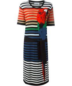 Sonia Rykiel | Полосатое Платье С Принтом Попугая