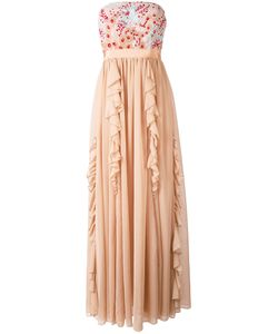 Si Jay | Flower Organza Long Dress