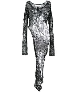 Isabel Benenato   Open Knit Asymmetric Blouse 42