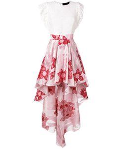 Christian Pellizzari | High-Low Hem Skirt Silk/Nylon/Polyamide/Metallized