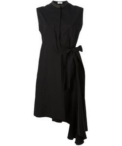 Brunello Cucinelli   Asymmetric Wrap Dress Large Cotton/Polyamide