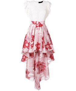 Christian Pellizzari | High-Low Hem Skirt Size 42 Acetate/Silk/Polyamide/Metallized