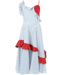 ANNA OCTOBER | Panelled Polka Dot Dress