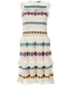 Alexander McQueen | Полупрозрачное Платье С Вышивкой