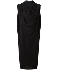 Rick Owens | Draped Midi Dress 40 Acetate/Silk