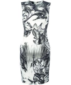 Versace Collection | Printed Fitted Dress 44 Viscose/Polyester/Spandex/Elastane