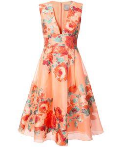 Lela Rose | Коктейльное Платье С Цветочным Узором