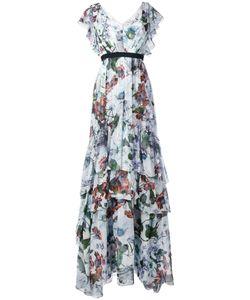 Erdem | Long Tiered Ruffle Dress