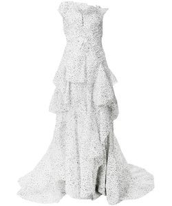 MATICEVSKI | Web Pattern Ruffled Gown Women
