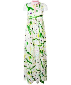 Si Jay | Abstract Print Dress 42 Viscose/Silk