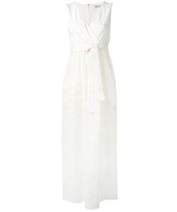 Max Mara | Plunge Wrap Maxi Dress Size 42