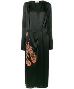 ATTICO   Gabriela Embroidered Wrap Dress