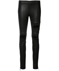 Thomas Wylde | Vinona Trousers Medium Rayon/Cotton/Polyurethane/Lamb Nubuck Leather