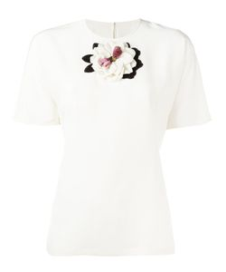 Dolce & Gabbana | Flower Applique Top 46 Silk