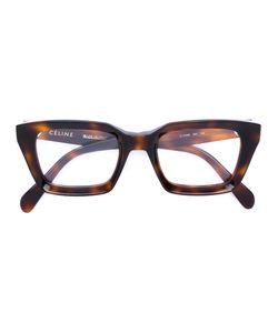 Céline Eyewear | Tortoiseshell Square Frame Glasses