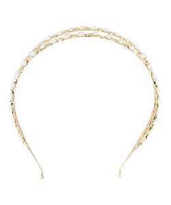 Rosantica | Pearl Embellished Hair Band 24kt Plated Metal/Pearls
