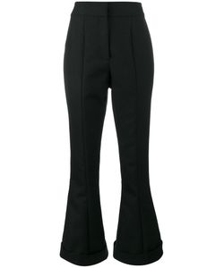 JACQUEMUS | Turn-Up Flared High-Waisted Trousers Women