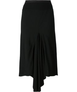 Rick Owens | Asymmetric Drape Skirt 38 Viscose
