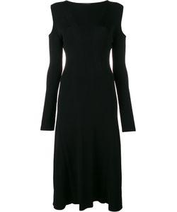 Barbara Casasola | Ribbed Cold Shoulder Dress 40 Viscose/Polyester