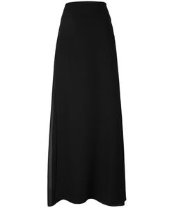 Lanvin | Long Side Slit Skirt 40 Silk