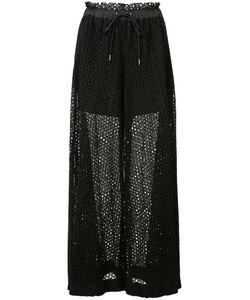 Sacai | Drawstring Wide Leg Dot Lace Pant 2