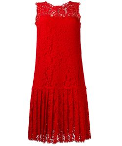 Ermanno Scervino | Pleated Lace Dress Size 42
