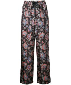 ASTRAET | Paisley Print Trousers 00 Polyester