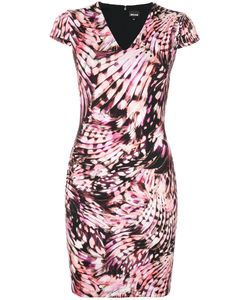 Just Cavalli | Приталенное Платье С V-Образным Вырезом